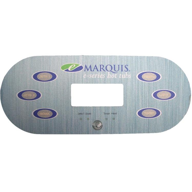 650 0684 Marquis Spas Overlay E Series 6 Button 2 Pump