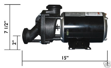 Jacuzzi 174 Spas Replacement J Pump 1 0 Hp 230 V 1 Speed 3450