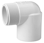 PVC FITTING: 90 ELBOW 1-1/2'' MPT X 1-1/2'' SLIP | 410-015