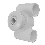 HYDRO-AIR JET ASSEMBLY: HYDRO JET 1.5'' X 1.5'' WHITE 10-5300WHT