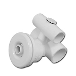 HYDRO-AIR JET ASSEMBLY: SLIMLINE 1.5'' X 1'' WHITE 10-5650WHT