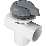 DIVERTER VALVE: HYDRO-AIR 3-WAY FLOW 2'' SLIP X 2'' SLIP X 2'' SLIP - GRAY 11-4000GRY