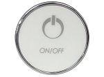 C G AIR SYSTEMES TMS ROUND 1 BUTTON CHROME ON/OFF 4 PIN