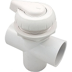 DIVERTER VALVE: HYDRO-AIR 3-WAY FLOW 2'' SLIP X 2'' SLIP X 2'' SLIP - WHITE 11-4000WHT