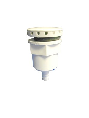 AIR INJECTOR ASSEMBLY: WITH 3/8'' BARB WHITE